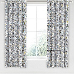 Helena Springfield - Blue cotton half panama 'Tess' curtains