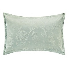 Sanderson - Aqua cotton and polyester 'Alencon' Oxford pillow case