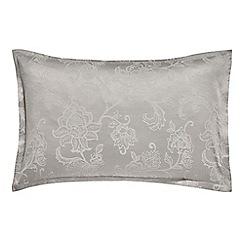 Sanderson - Silver cotton and polyester 'Alencon' Oxford pillow case