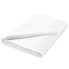 Hotel - White Egyptian cotton sateen 600 thread count 'Bexley' flat sheet