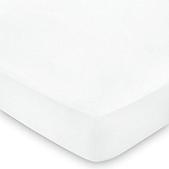 Hotel - White Egyptian cotton sateen 600 thread count 'Bexley' fitted sheet