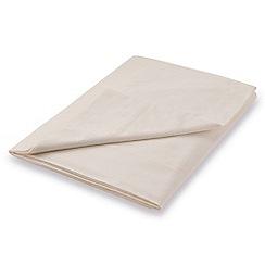 Hotel - Natural Egyptian cotton percale 'Cadogan' flat sheet