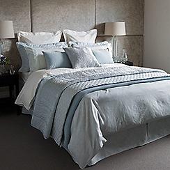 Fable - Light 350 thread count blue cotton 'Callista' valance sheet