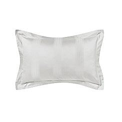 Hotel - Silver combed cotton 300 thread count 'Capella' Oxford pillow case