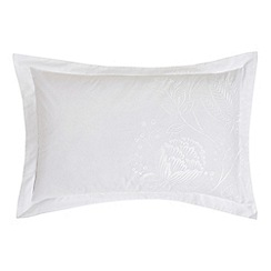 Harlequin - White floral 'Colette' Oxford pillow case