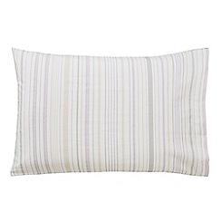 Sanderson - Light grey cotton Sanderson Home 'Damson Tree' Standard pillow cases