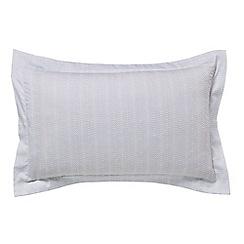 Hotel - Aqua cotton sateen 300 thread count 'Deauville' Oxford pillow case