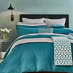 Hotel - Dark turquoise combed cotton 300 thread count 'Elysian' duvet cover