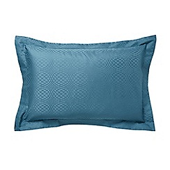 Hotel - Dark turquoise combed cotton 300 thread count 'Elysian' Oxford pillow case