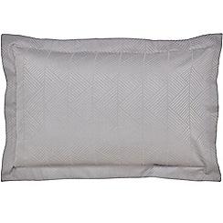 Hotel - Silver combed cotton 200 thread count 'Farrah' Oxford pillow case