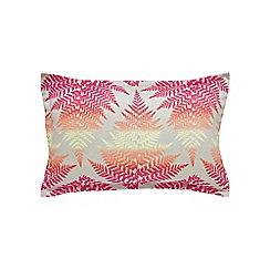 Clarissa Hulse - Multicoloured cotton sateen 200 thread count 'Filix' oxford pillow case