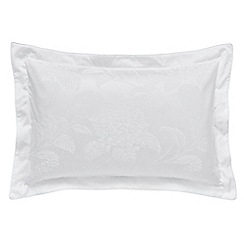 Sanderson - White cotton and polyester Options 'Hortensia Blossom' Oxford pillow case