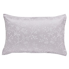 Sanderson - Light purple cotton and polyester Sanderson Options 'Ida Blossom' Oxford pillow case