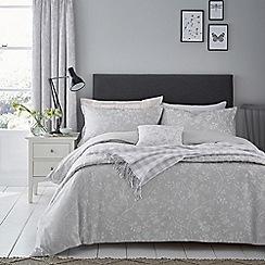 Sanderson - Grey cotton and polyester Sanderson Options 'Ida Blossom' duvet cover