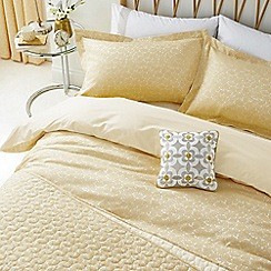 Helena Springfield - Light yellow viscose and polyester 'Josey' duvet cover
