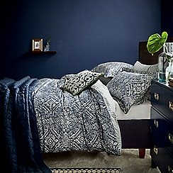 Bedeck 1951 - Dark blue cotton 180 thread count percale 'Juma' duvet cover