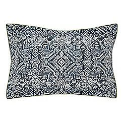 Bedeck 1951 - Dark blue cotton 180 thread count percale 'Juma' Oxford pillow case