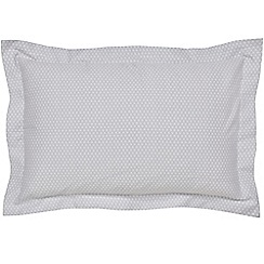 Hotel - Silver cotton sateen 300 thread count 'Kahala' Oxford pillow case