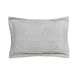Fable - Light grey cotton 350 thread count jacquard 'Kendari' Oxford pillow case