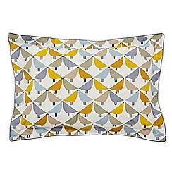 Scion - Multicoloured cotton percale 180 thread count 'Lintu' Oxford pillow case