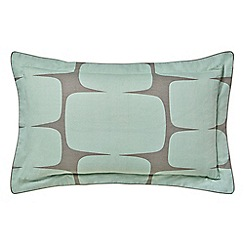 Scion - Light green cotton percale 'Lohko' Oxford pillow case
