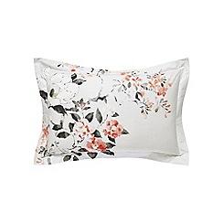 Sanderson - Multicoloured cotton percale 200 thread count 'Magnolia & Blossom' oxford pillow case