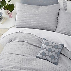 Helena Springfield - Silver microfibre polyester 'Mabel' duvet cover