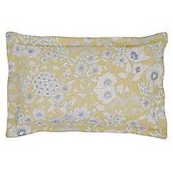 Sanderson - Light yellow cotton Sanderson Home 'Maelee' Oxford pillow case