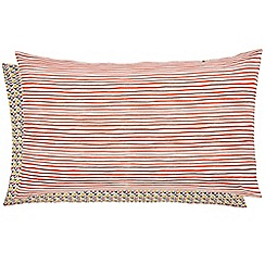 Helena Springfield - Multicoloured polyester and cotton 'Mali Oasis' Standard pillow cases