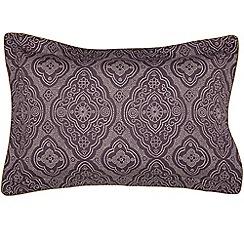 Bedeck of Belfast - Dark purple cotton and polyester 'Omari' Oxford pillow case
