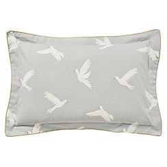 Sanderson - Light grey cotton Sanderson Home 'Paper Doves' Oxford pillow case