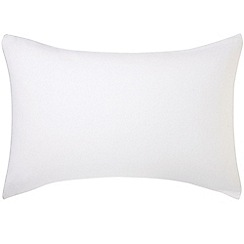 Hotel - White brushed cotton plain dye 'Valloire' Standard pillow case