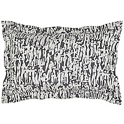 Harlequin - Grey viscose and polyester 'People' Oxford pillow case