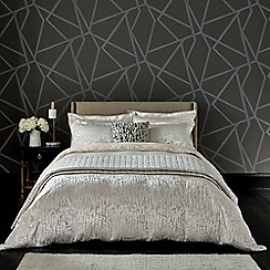 Harlequin - Natural viscose and polyester 'People' duvet cover