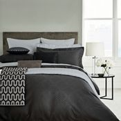 Hotel Dark Grey Combed Cotton 300 Thread Count Petra Duvet Cover