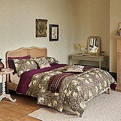 Morris & Co - Purple 300 thread count floral 'Pimpernel' duvet cover