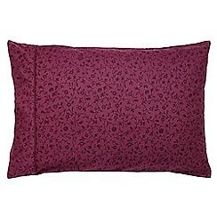 Morris & Co - Purple 300 thread count floral 'Pimpernel' pillow case