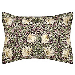 Morris & Co - Purple 300 thread count floral 'Pimpernel' Oxford pillow case