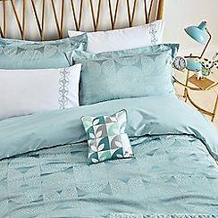 Helena Springfield - Aqua cotton and polyester 'Posy' duvet cover