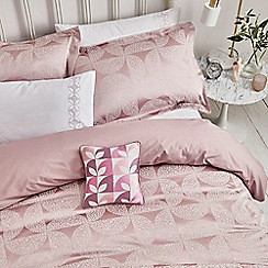 Helena Springfield - Cerise cotton and polyester 'Posy' duvet cover