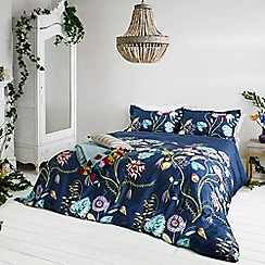 Harlequin - Navy cotton sateen 200 thread count 'Quintessence' duvet cover