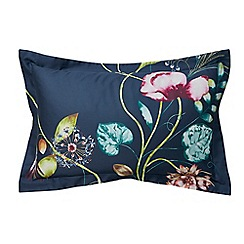 Harlequin - Navy cotton sateen 200 thread count 'Quintessence' Oxford pillow case
