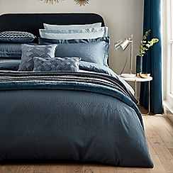 Hotel - Dark blue combed cotton 300 thread count 'Rivage' duvet cover