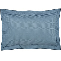 Hotel - Dark blue combed cotton 200 thread count 'Rivage' Oxford pillow case