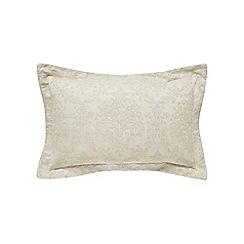 Sanderson - Natural linen and cotton 'Riverside Damask' oxford pillow case