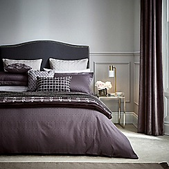 Hotel - Dark purple combed cotton 300 thread count 'Rivage' duvet cover