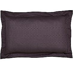 Hotel - Dark purple combed cotton 200 thread count 'Rivage' Oxford pillow case