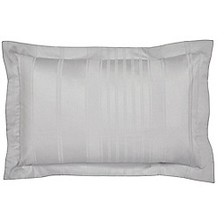 Hotel - Silver combed cotton 300 thread count 'Sakala' Oxford pillow case