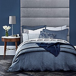 Fable - Dark blue cotton sateen 220 thread count 'Samarinda' duvet cover