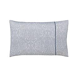 Fable - Dark blue cotton sateen 220 thread count 'Samarinda' Standard pillow case